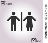 wc sign icon. toilet symbol....