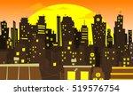 Evening Cityscape Vector...