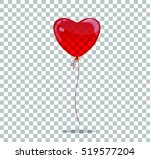 vector red balloon in form of... | Shutterstock .eps vector #519577204