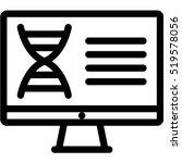 dna analysis icon | Shutterstock .eps vector #519578056