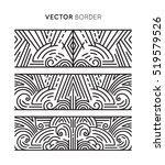 vector geometric border in... | Shutterstock .eps vector #519579526