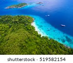 aerial view of tropical islands ... | Shutterstock . vector #519582154