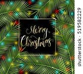 congratulation merry christmas  ... | Shutterstock .eps vector #519582229