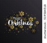 abstract christmas winter... | Shutterstock .eps vector #519584518