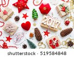 christmas and new year 2017... | Shutterstock . vector #519584848