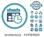 date and time icon with bonus... | Shutterstock . vector #519585820