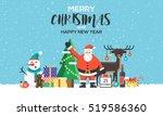 modern flat creative christmas... | Shutterstock .eps vector #519586360