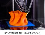 3d printer printing. close up... | Shutterstock . vector #519589714