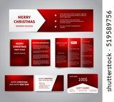 merry christmas banner  flyers  ... | Shutterstock .eps vector #519589756