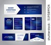 merry christmas banner  flyers  ... | Shutterstock .eps vector #519589924