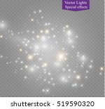glow light effect. vector... | Shutterstock .eps vector #519590320