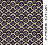 Luxurious Floral Pattern. Gold...