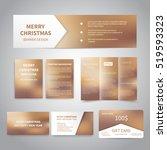 merry christmas banner  flyers  ... | Shutterstock .eps vector #519593323