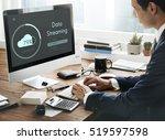 cloud storage upload interface... | Shutterstock . vector #519597598