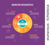 marketing infographic vector... | Shutterstock .eps vector #519600616
