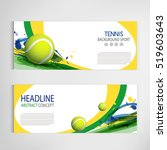 tennis ball championship or... | Shutterstock .eps vector #519603643