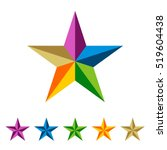 Colorful Star Logo Template