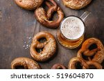 glass of lager beer with... | Shutterstock . vector #519604870