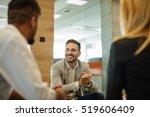 team of business people... | Shutterstock . vector #519606409