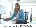 young woman working in a call... | Shutterstock . vector #519606454