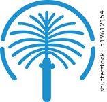 the jumeirah palm island map | Shutterstock .eps vector #519612154
