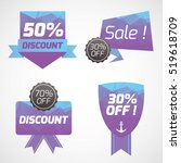 set of tag badge banner sale... | Shutterstock .eps vector #519618709
