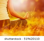 young woman practicing morning... | Shutterstock . vector #519620110