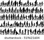 large collection of silhouettes ... | Shutterstock .eps vector #519621604