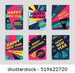 merry christmas new year design ... | Shutterstock .eps vector #519622720