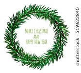 white card with christmas... | Shutterstock .eps vector #519622840