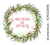 white card with christmas... | Shutterstock .eps vector #519622858