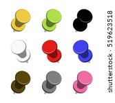 vector black  yellow  red  blue ... | Shutterstock .eps vector #519623518