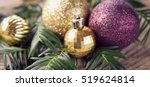 Gold Christmas Bauble And Bell...