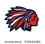 american native chief head... | Shutterstock .eps vector #519626383
