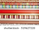 many rolls of wrapping paper... | Shutterstock . vector #519627220
