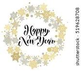 happy new year text for...   Shutterstock .eps vector #519628708