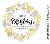 merry christmas and new year... | Shutterstock .eps vector #519628714
