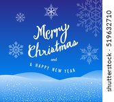 merry christmas and happy new... | Shutterstock .eps vector #519632710