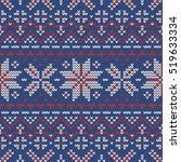 christmas knitting seamless... | Shutterstock .eps vector #519633334