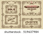 old advertisements and frames... | Shutterstock .eps vector #519637984