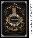 vintage label for whiskey... | Shutterstock .eps vector #519637990