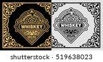 Stock vector vintage label for whiskey packing 519638023