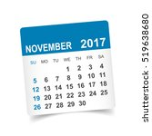 november 2017. calendar vector... | Shutterstock .eps vector #519638680