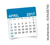 april 2017. calendar vector... | Shutterstock .eps vector #519638740