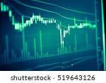 data analyzing in trading... | Shutterstock . vector #519643126