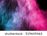 color powder explosion on black ... | Shutterstock . vector #519645463