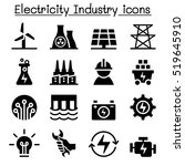 electricity industry icon | Shutterstock .eps vector #519645910