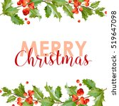 new year and christmas card  ... | Shutterstock .eps vector #519647098
