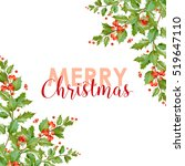 new year and christmas card  ... | Shutterstock .eps vector #519647110