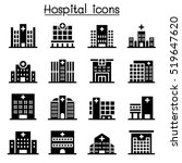 hospital building icon | Shutterstock .eps vector #519647620